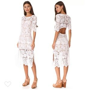 For Love and Lemons Midi Dress with High Slit
